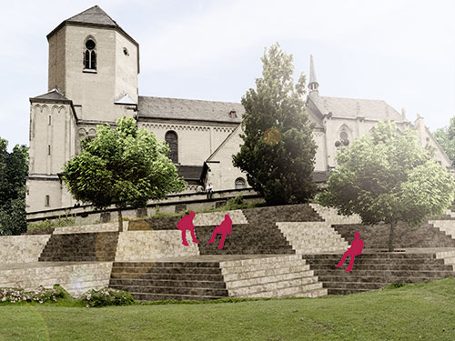 Treppenkomplex Abtei
